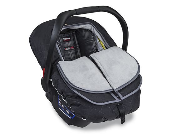 Infant Car Seat Cover Polor Mist B Warm Black Half Open R 72rgb