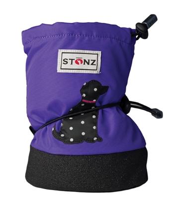 Stonz Baby Booties - Polka Dog - Small